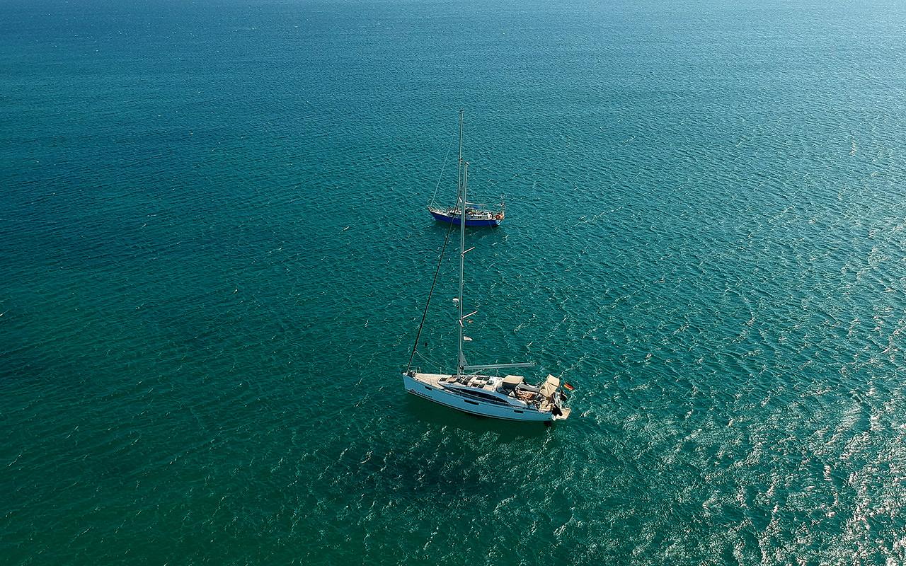 Segeln zwischen kanarischen Inseln
